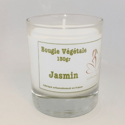 Bougie végétale Made in France senteur Jasmin - 130 Gr
