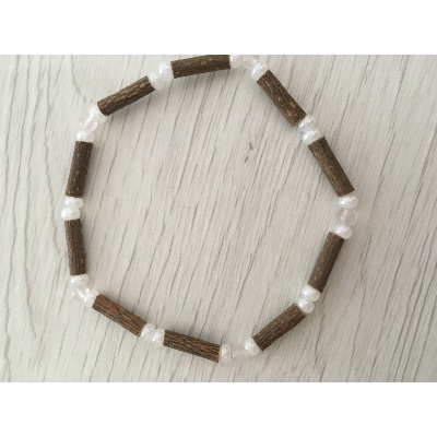 Bracelet simple antioxydant au bois de noisetier QUARTZ