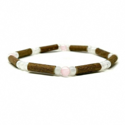 Bracelet simple QUARTZ ROSE